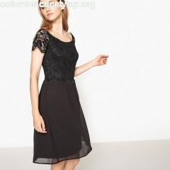 Lace top dress, black, Esprit   HEb0ZxKw