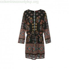 Mix print dress, black with print, ene Derhy 1ZVH5FN9