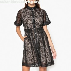 Philia short-sleeved embroidered tulle dress, black, Paul And Joe Sister   qFmGFyOQ