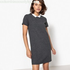Polo shirt dress, grey, School ag   FuHeeKCa