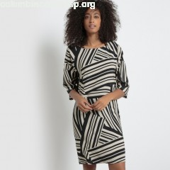 Shift dress, black striped, Collections 6kcNVAAY