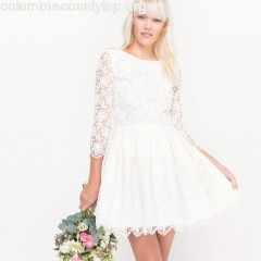 Short lace wedding dress, ivory, Mademoiselle    seQu8iLE