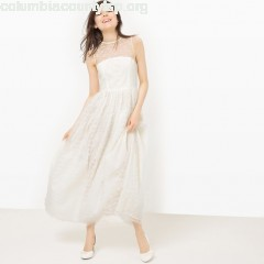 Sleeveless lace maxi dress, ivory, Molly Bracken   gKa11OPW