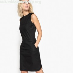 Straight smart dress, black, Collections   w0jnpC6S