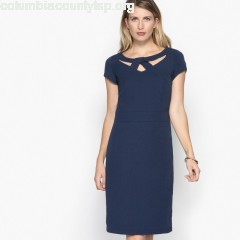 Twill dress with cut out detailing Anne Weyburn   hClWLHm8