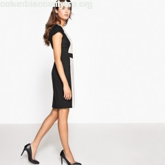 Two tone bodycon dress, black/beige, Collections 8QyHSL6P