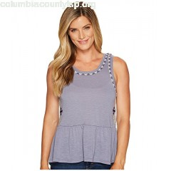 Cruel Peplum Tank Top with Embroidery HSNZV8Wf