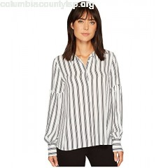Vince Camuto Long Puff Sleeve Stripe Display Blouse QrC8mBJu