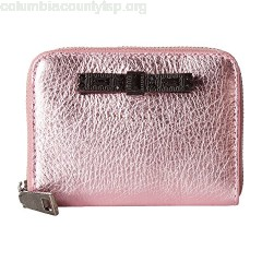 Marc Jacobs Metallic Bow Zip Card Case XHrYxsTY