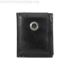 Steve Madden Grommet Glazed Leather L-Fold Wallet UdRC2NCb