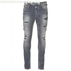 New collection DISTRESSED FADED SLIM-FIT JEANS GREY LE TEMPS DES CERISES MEN T4CnBstU