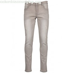 New collection DISTRESSED SLIM JEANS GRIS BEST MOUNTAIN MEN riDgUJAK