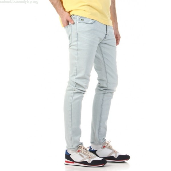 de54e93b5e40e New collection FADED SLIM-FIT JEANS INDIGO LIGHT DISTRESSED LACOSTE MEN  IdeYeIUx
