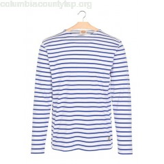 New collection BOAT-NECK BRETON TOP IN LIGHTWEIGHT JERSEY BLANC/ETOILE ARMOR LUX MEN op5ceyVL