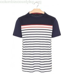New collection COTTON BRETON T-SHIRT MARINE DEEP/MILK/BRASIER ARMOR LUX MEN Jl2MfehZ