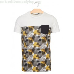 New collection GRAPHIC PRINT REGULAR-FIT COTTON T-SHIRT WITH ROUND NECK GRIS ANTHRACITE BIZZBEE MEN z1swZcTL