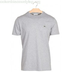 New collection LACOSTE PIMA COTTON ROUND-NECK T-SHIRT ARGENT CHINE LACOSTE MEN n3OErSNi