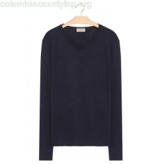New collection LONG-SLEEVED COTTON T-SHIRT CAVIAR AMERICAN VINTAGE MEN 2ICvaS2j