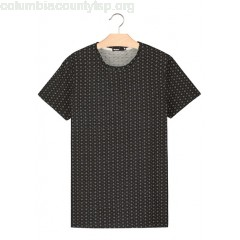 New collection REGULAR-FIT COTTON JACQUARD T-SHIRT WITH ROUND NECK BORDEAU BIZZBEE MEN E71vDraz