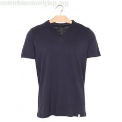 New collection REGULAR FIT HENLEY COLLAR COTTON T-SHIRT NAVY HARRIS WILSON MEN iQ1ioMeV