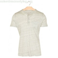 New collection REGULAR-FIT HENLEY-COLLAR LINEN T-SHIRT 230. CARRARE MAJESTIC MEN Et6NlEbG