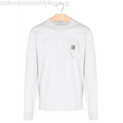 New collection REGULAR-FIT LONG SLEEVED T-SHIRT 48200-ASH HEATHER CARHARTT WIP MEN FZOia1Wl