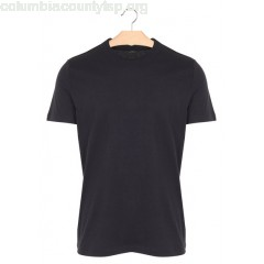 New collection REGULAR-FIT ROUND-NECK COTTON T-SHIRT 002. NOIR MAJESTIC MEN bYfTykid