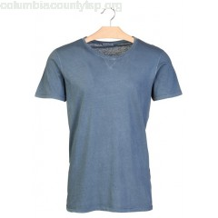 New collection REGULAR-FIT ROUND-NECK COTTON T-SHIRT CHINA BLUE SELECTED MEN hysmh4To