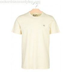 New collection REGULAR-FIT ROUND-NECK COTTON T-SHIRT JAUNE D'OR CHEVIGNON MEN ZSh5rtQs