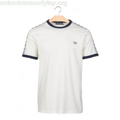 New collection REGULAR-FIT ROUND-NECK COTTON T-SHIRT SNOW WHITE FRED PERRY MEN 1qnRjtkw