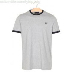 New collection REGULAR-FIT ROUND-NECK COTTON T-SHIRT VINTAGE MARL GREY FRED PERRY MEN audV9qTK