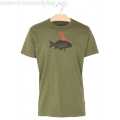 New collection REGULAR-FIT ROUND-NECK COTTON T-SHIRT WITH SCREEN PRINT KHAKI LOREAK MEN Eg24FqsB