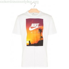 New collection REGULAR-FIT ROUND-NECK COTTON T-SHIRT WITH SCREEN PRINT WHITE/WHITE NIKE MEN UIJkIiA2