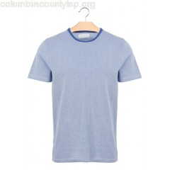 New collection REGULAR-FIT ROUND-NECK T-SHIRT IN TWO-TONE COTTON PIQUÉ OCEAN HARRIS WILSON MEN IyBkMOfE