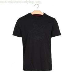 New collection REGULAR-FIT ROUND-NECK T-SHIRT WITH SCREEN PRINT NOIR CHEVIGNON MEN gAGKhK16