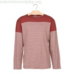 New collection REGULAR-FIT STRIPED COTTON AND LINEN T-SHIRT WITH ROUND NECK MANGANÈSE/NATURE ARMOR LUX MEN 6Mh5CHdB