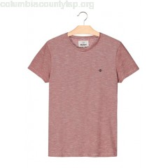 New collection REGULAR-FIT STRIPED COTTON T-SHIRT WITH ROUND NECK AND EMBROIDERY BORDEAU BIZZBEE MEN zou1Uym7