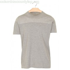 New collection REGULAR-FIT STRIPED COTTON T-SHIRT WITH ROUND NECK HEATHER GREY + BLUE STRIPES HARTFORD MEN pI2B4uCo