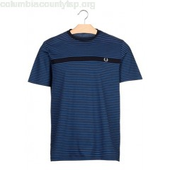 New collection REGULAR-FIT STRIPED COTTON T-SHIRT WITH ROUND NECK NAVY FRED PERRY MEN r8DmLRas