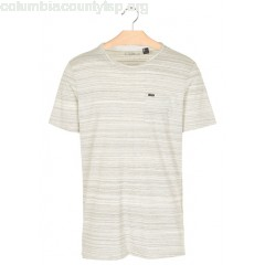 New collection REGULAR-FIT STRIPED COTTON T-SHIRT WITH ROUND NECK POWDER WHITE O NEILL MEN J6wlPfEt