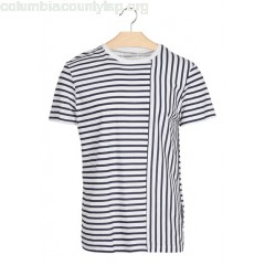 New collection REGULAR-FIT STRIPED ROUND-NECK T-SHIRT WHITE TOM TAILOR MEN qq17HXPM