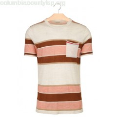 New collection REGULAR-FIT STRIPED WOOL T-SHIRT WITH ROUND NECK ORANGE SCOTCH AND SODA MEN ElZXpQRA