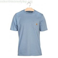 New collection ROUND-NECK COTTON T-SHIRT 97500-DUSTY BLUE CARHARTT WIP MEN Tg3NEiSf