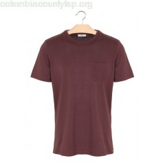 New collection ROUND-NECK COTTON T-SHIRT WINE MINIMUM MEN DbktfYrP