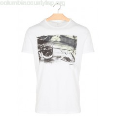 New collection ROUND-NECK COTTON T-SHIRT WITH SCREEN PRINT 100-WHITE MARC O'POLO MEN pFqpSZqp