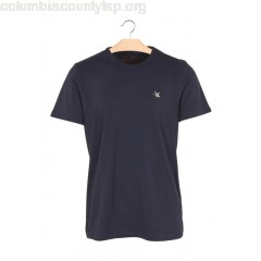 New collection ROUND-NECK PLAIN COTTON T-SHIRT NAVY CHEVIGNON MEN AAe83UHI