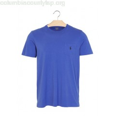 New collection ROUND-NECK SLIM-FIT COTTON T-SHIRT REFLEX BLUE POLO RALPH LAUREN MEN 1h2aa5H6