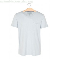 New collection ROUND-NECK SLIM-FIT T-SHIRT WITH SHORT SLEEVES CLOUDY SKY TOM TAILOR MEN CUMuNgn2
