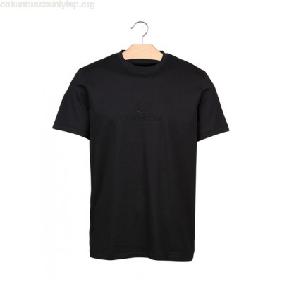 New collection ROUND-NECK T-SHIRT WITH EMBROIDERED COTTON LOGO BLACK FRED PERRY MEN bgm0gNcM