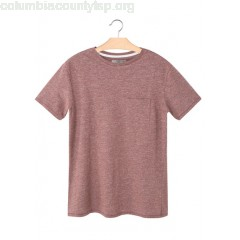 New collection ROUND-NECK T-SHIRT WITH POCKET ROUGE FONCE MANGO MEN Ddtw7vhd
